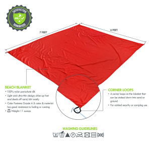 Beach-Blanket-Towel-Picnic-Camping-Oversized-Red-Adalid-Gear-2nd-Version