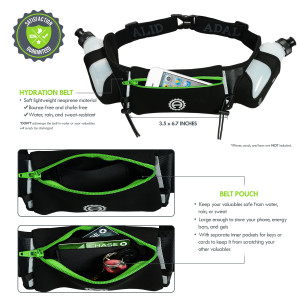 Green Hydration Belt Pouch