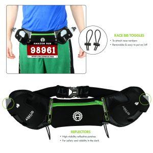 Green Hydration Belt Race Bib