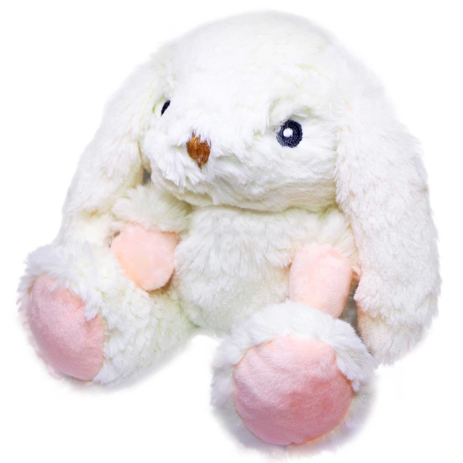 Plush Toy With Scented Hot Cold Therapy Insert White Rabbit